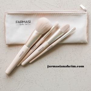 FARMASI MAKE-UP BRUSH SET LIGHT PINK